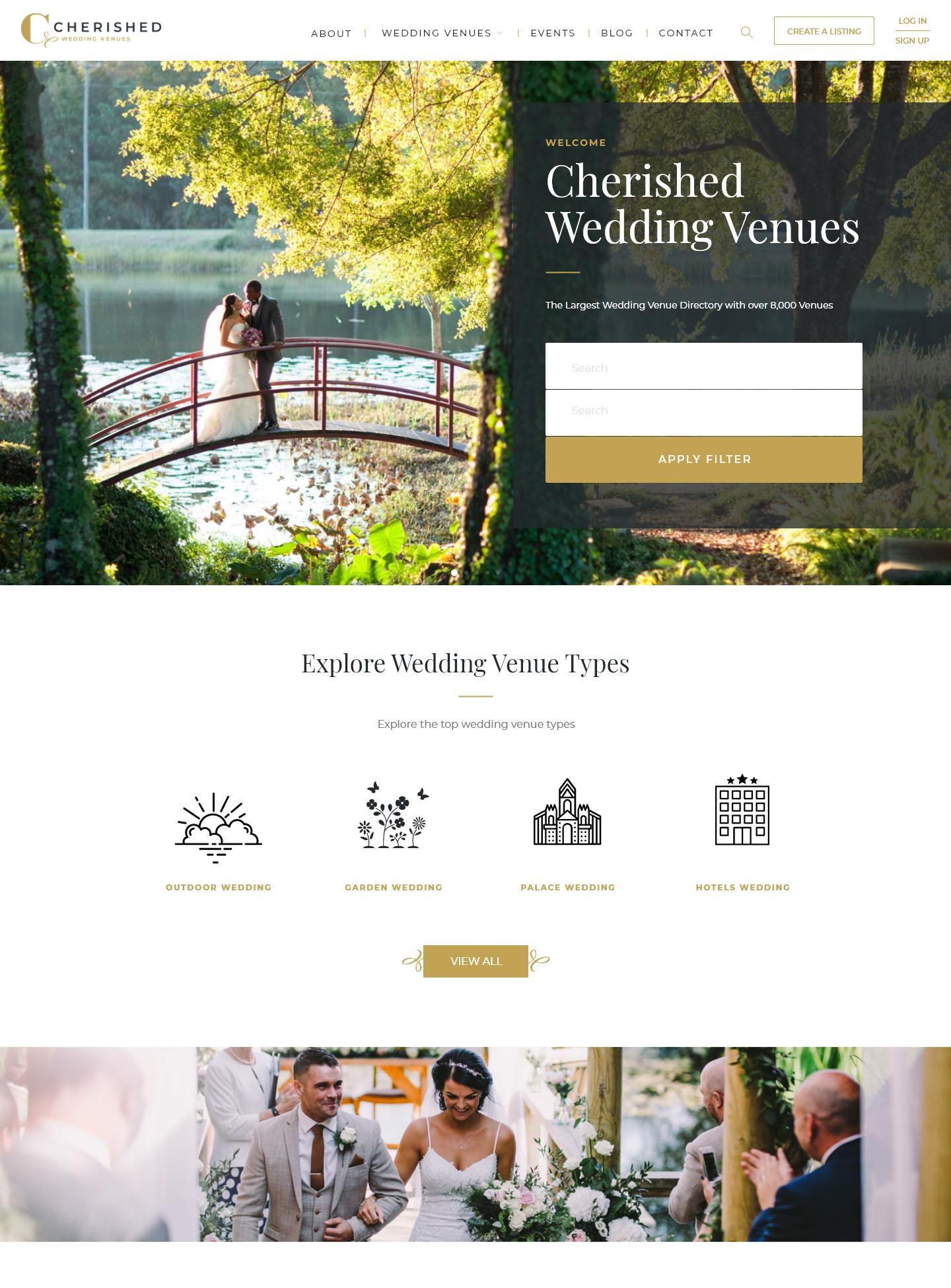 Cherish Wedding Homepage