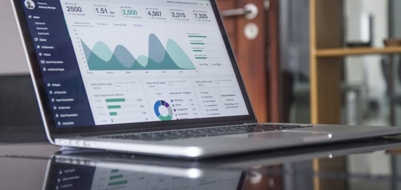 Analytics Dashboard On Laptop