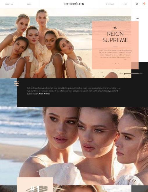 EyebrowQueen Website Design And Development 03 03