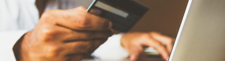 Man Making An Online Card Payment