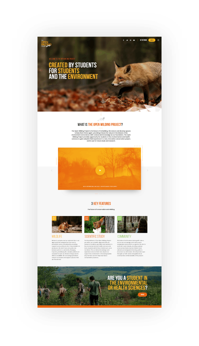 The Open Wilding Project Website Design And Development@2x