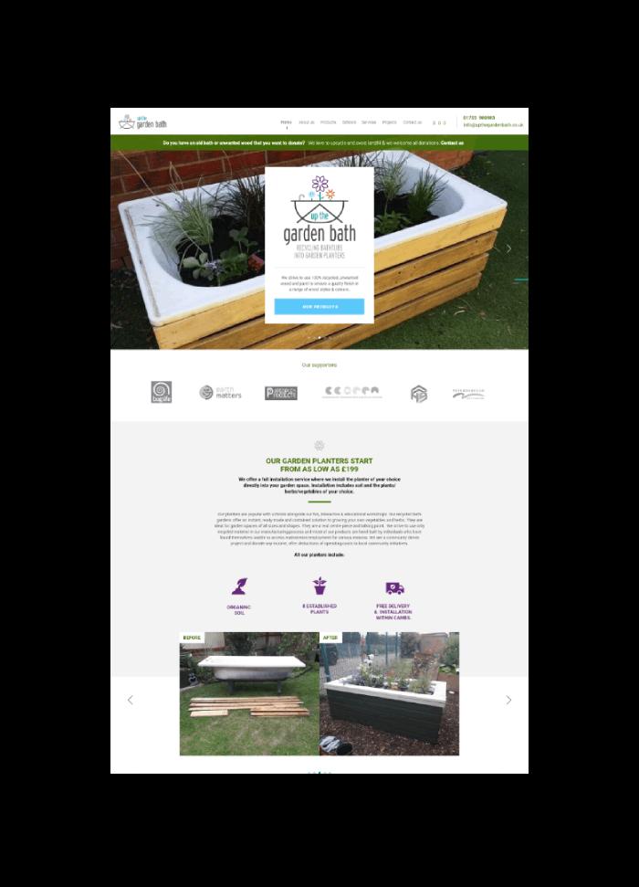 Up THe Garden Bath Website Design And Development
