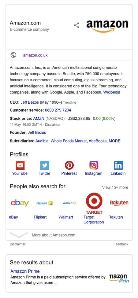 What Is A Knowledge Panel In Google Search